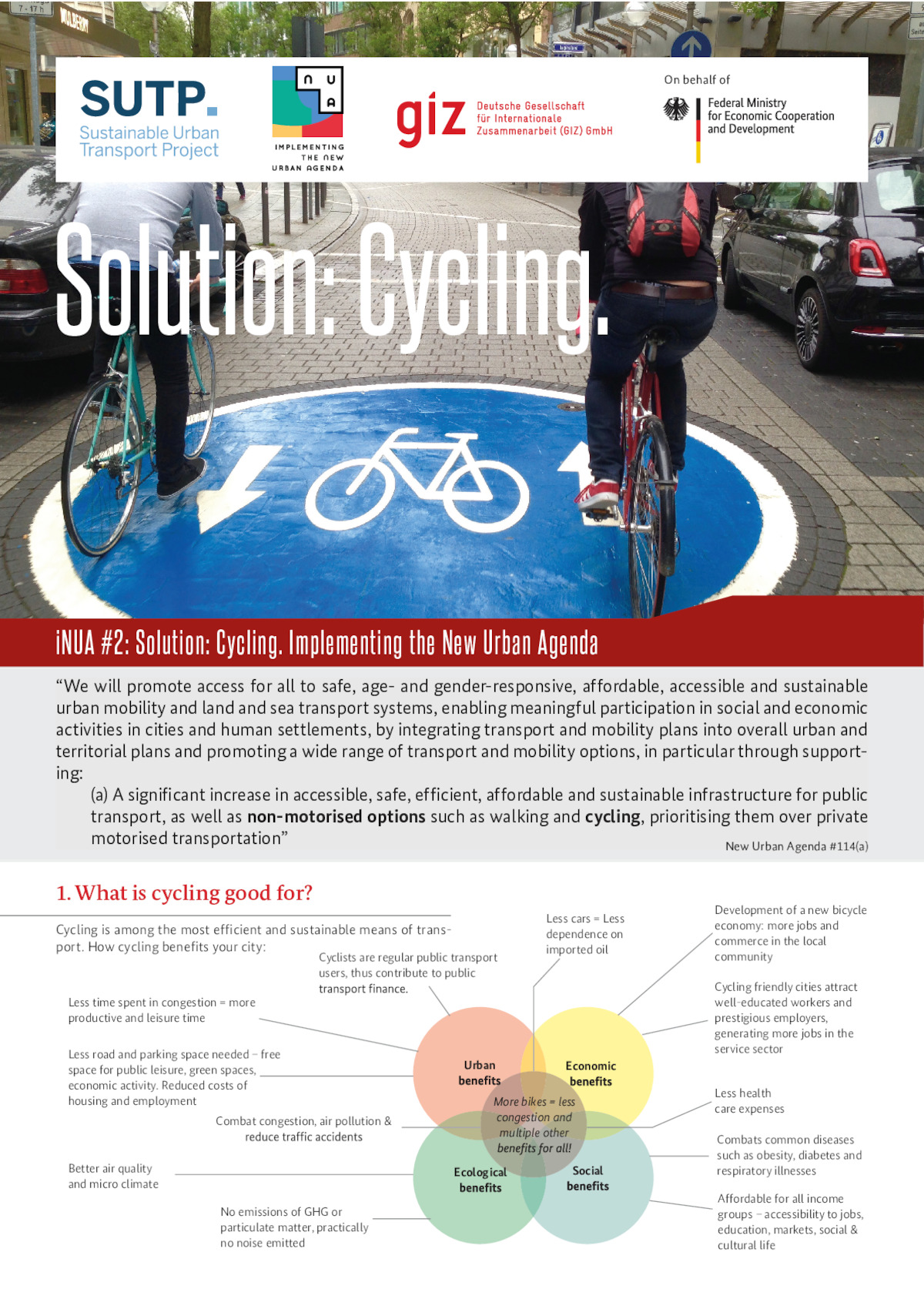 iNUA #2: Solution: Cycling | Transformative Urban Mobility